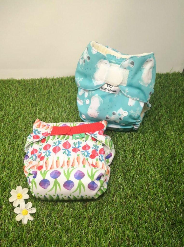 Couches lavables Te1 à poche et intégrale de la marque Totsbots et Bamboolik